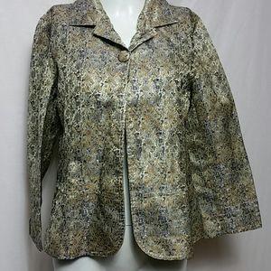 Chico's Size 1 Lined Jacket Blazer Jacket